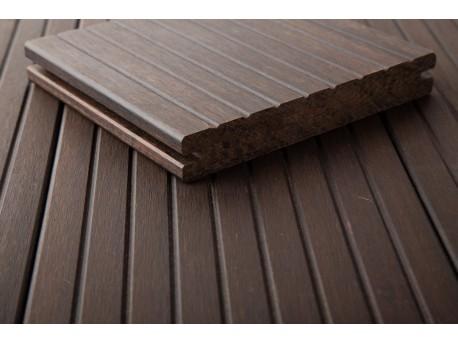 1 stuk DASSO XTR Bamboe terrasplank MET V-GROEF-prijzen per stuk (plank) Vlonders