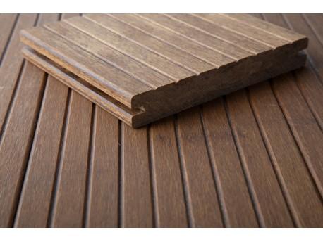 1 stuk (plank) DASSO C-TECH Bamboe terrasplank MET V-GROEF-prijzen per stuk (plank) Vlonders